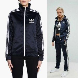 NEW Adidas   Europa Slim Fit Satin Track Jacket